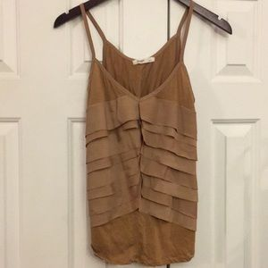 😜2/$29 Old Navy tan Khaki tank top S